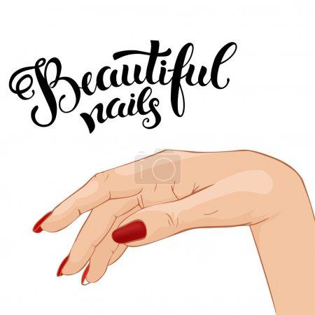 Beautiful manicure, illustration for Beauty salon,...