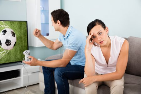 Busy Man Addicted To Videogame