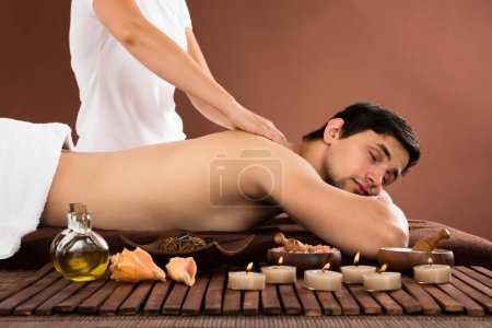 Young Man Getting Massage