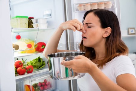 Woman noticed foul smell of food