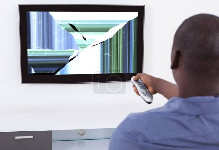 Man In Front Of Television