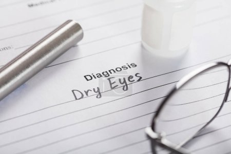 Text Diagnosis On Paper With Glasses