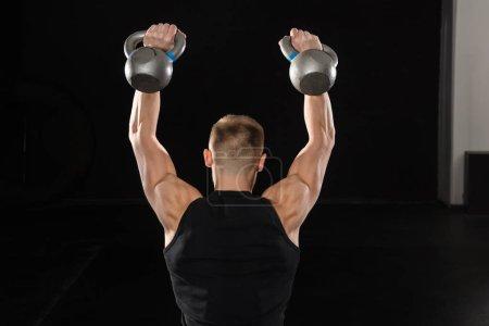 Male Athlete Doing Exercise