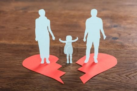 Family Paper Cut On Heart