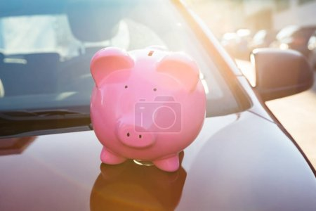 Piggybank On New Car