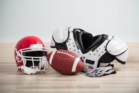 Ball With Gloves And Helmet