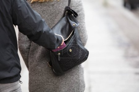 Person Stealing Purse