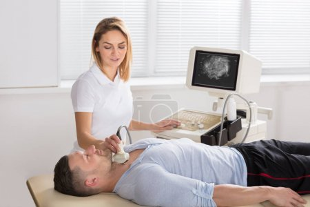Man Getting Ultrasound Scan