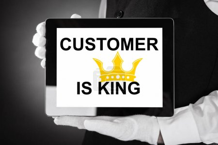 Person Displaying Customer Is King