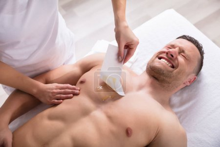 Person Waxing Man Chest