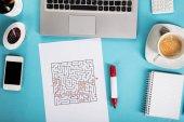 Labyrinth Maze On Paper