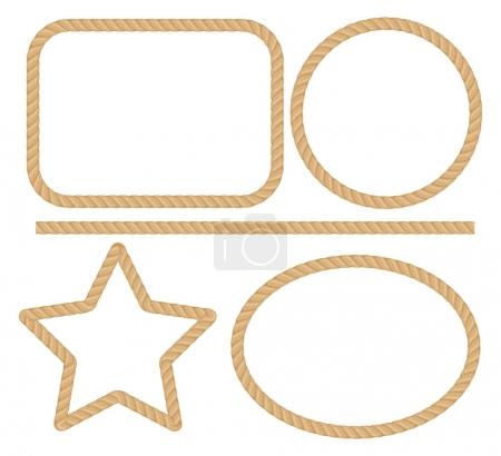 Illustration for Rope frame vector illustation - Royalty Free Image