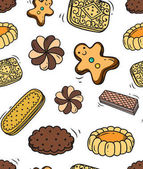Biscuit doodle seamless background