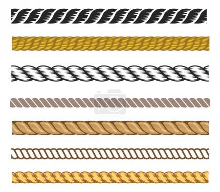 Set of rope  illustration