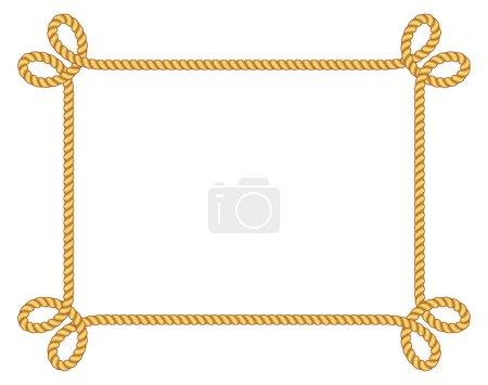 Illustration for Vintage rope frame vector - Royalty Free Image