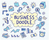 Set of business doodle