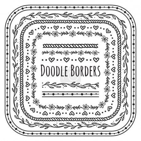 doodle decorative borders