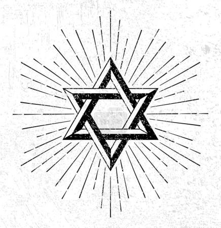 Vintage style star of David symbol