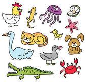 cartoon animal doodle