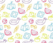 Summer holiday theme seamless background