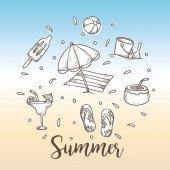 Summer holiday theme background