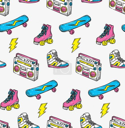 Vintage theme background with sneaker