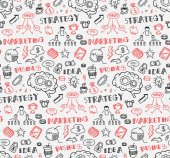 business themed seamless background