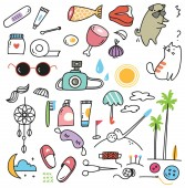 cute doodle collection vector illustration