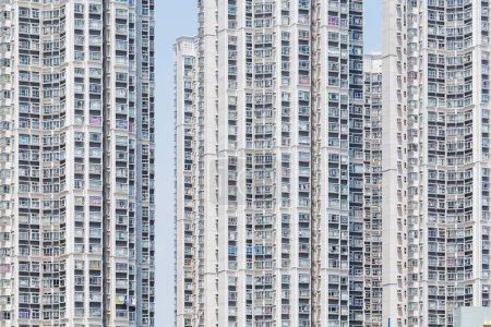 City buildings facade