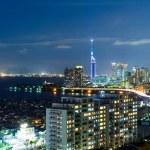 Fukuoka city in Japan at night...