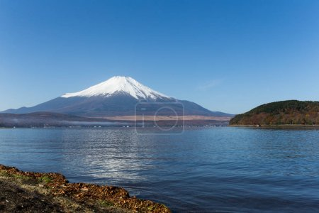 Fuji mountain and lake