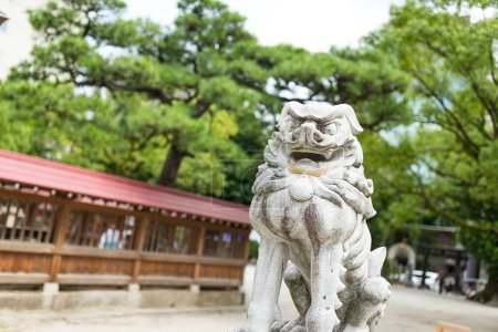 Lion statue in Japanese temple
