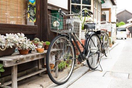Bikes on the city street