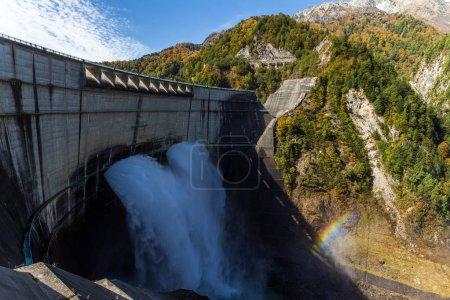 Kurobe dam and sunshine