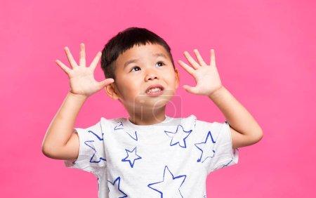 Young little asian boy