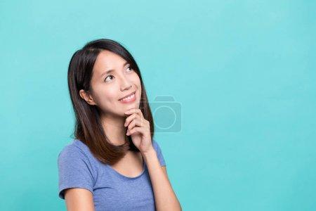 Woman thinking something
