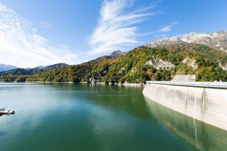 Kurobe Dam at pond