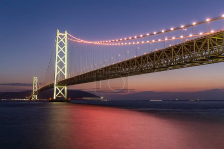 Akashi Kaikyo Bridge at evening