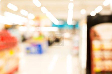 Supermarket or discount store blur background