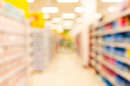 Blurred supermarket abstract background