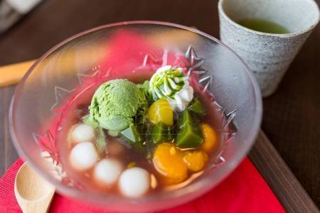 Iced japanese dessert