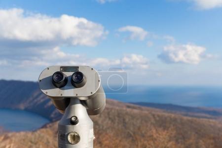Tourist Binocular at Lake Kuttara