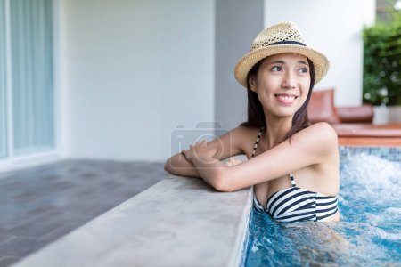Woman enjoy her spa at outdoor