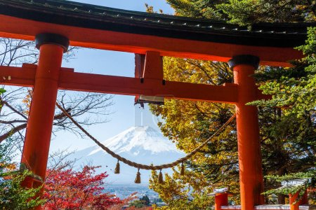 Torii and mountain Fuji