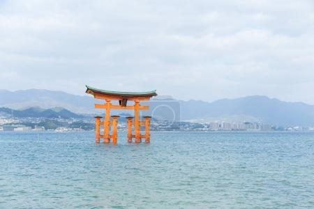Torii of Itsukushima Shrine in Hiroshima