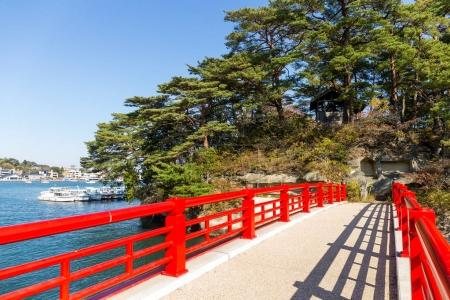 Red bridge at Matsushima Islands