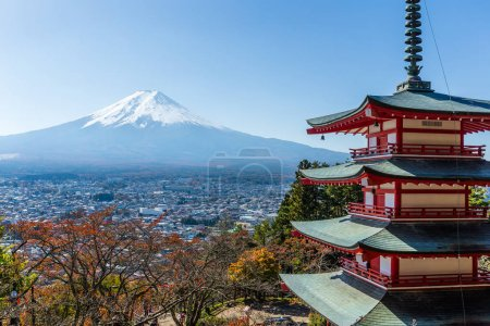 Mountain Fuji and Chureito red pagoda