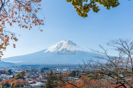 Mount Fuji and city in Japan