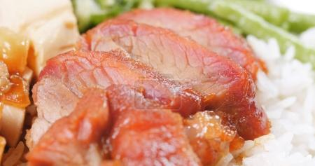 BBQ pork with rice