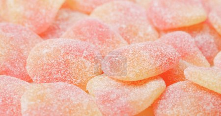 Photo for Heart shape candies close up - Royalty Free Image